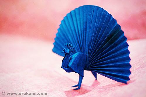 Akira Yoshizawa Origami Peacock