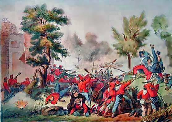 Archivo: Battaglia del Volturno - combattimento di Porta Romana, dorso de Santa María la Mayor - Perrin - litografia - 1861 (01) jpg.