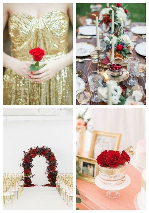 20 Elegant Red And Gold Wedding Ideas Happyweddcom