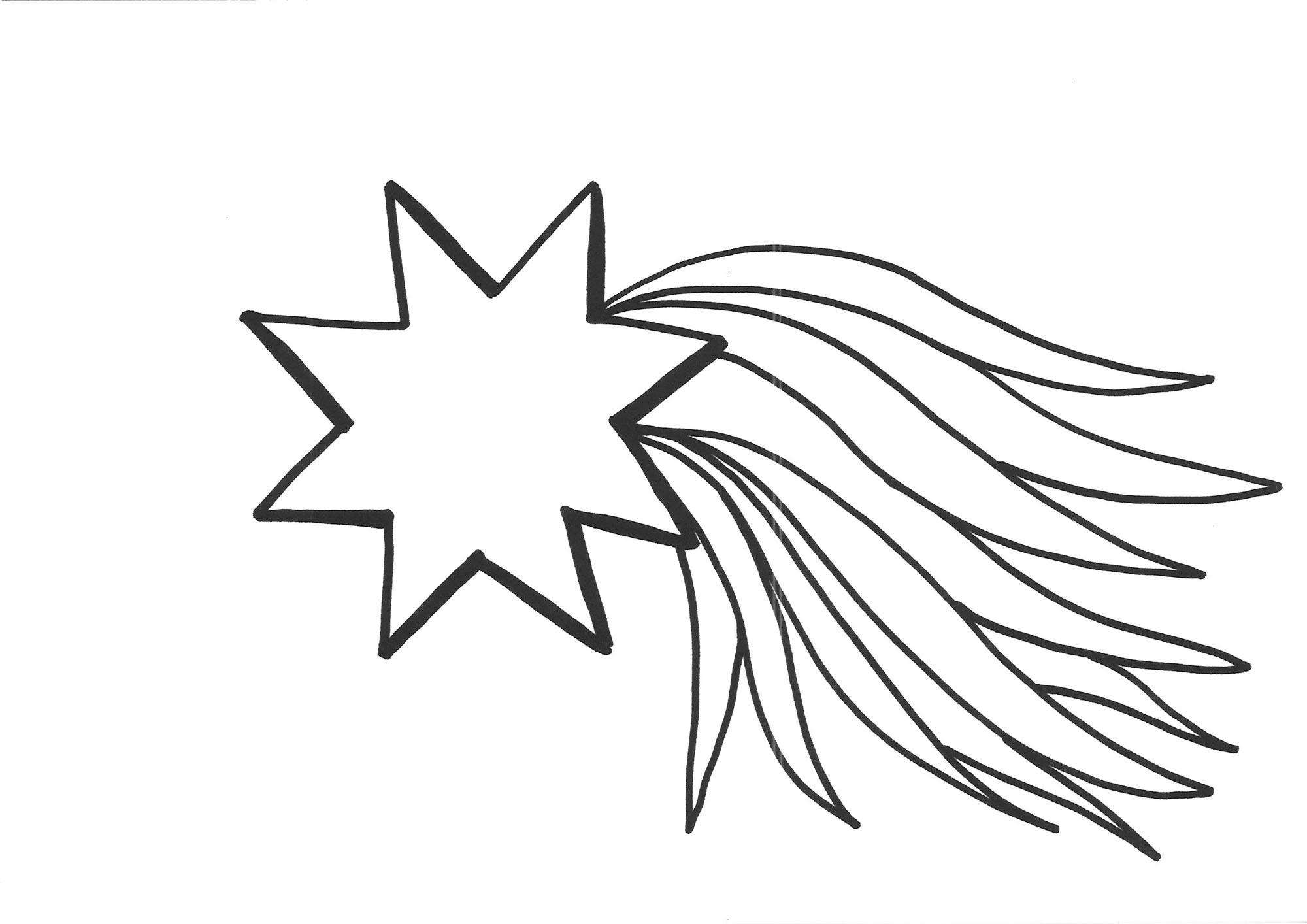 Ausmalbild Schneeflocken und Sterne Malvorlage Stern 2 kostenlos ausdrucken