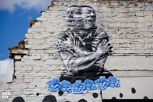 Street Art Shoreditch pasteup by London artist Dale Grimshaw
