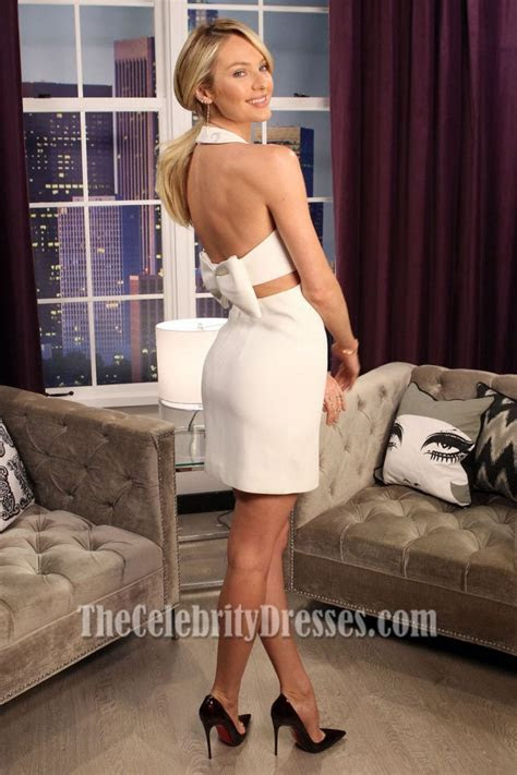 Candice Swanepoel Backless Party Dress The Lowdown with