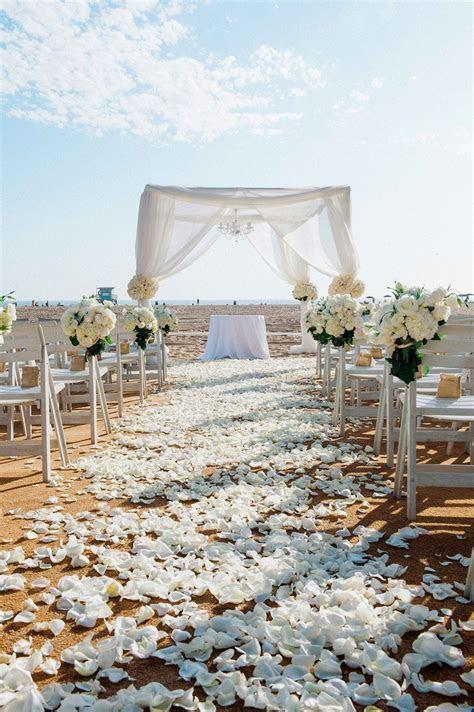 Ceremony Décor Photos   All White Beach Wedding   Inside