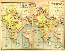Two more side-by-side maps of India