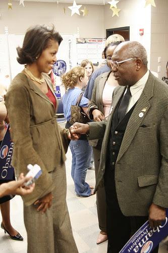 Michelle greets