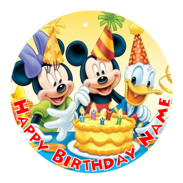 Mickey Mouse Edible Cake Topper Viparty