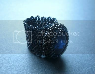 Midnight Blue Bezel Ring by The Sage's Cupboard