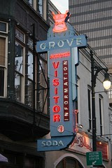 another one of the old grove drugstore neon sign