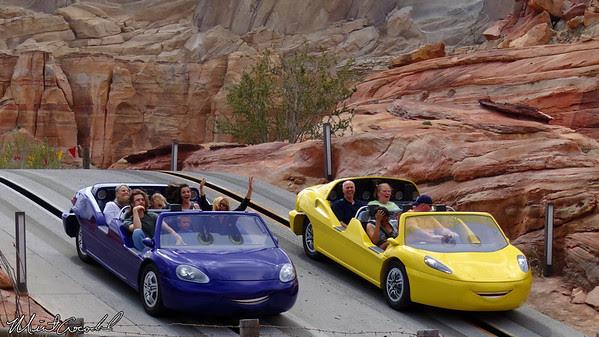 Disneyland Resort, Disney California Adventure, Cars Land, Radiator Springs Racers, Cadillac Range