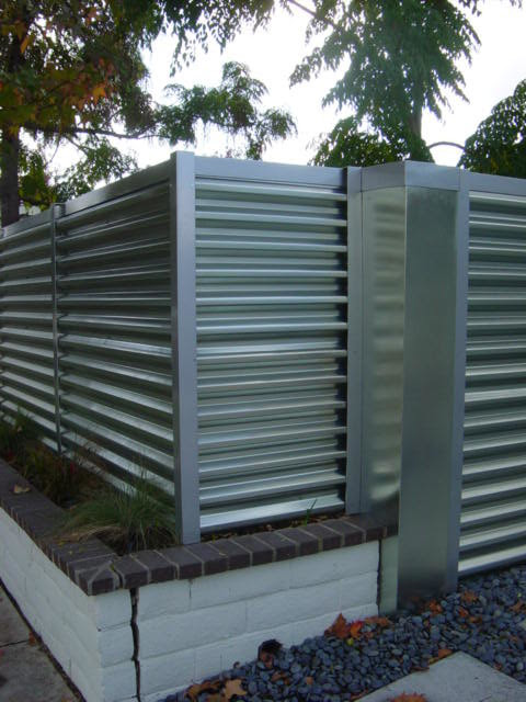 corregated steel fence - Modern - orange county - by MARK ...