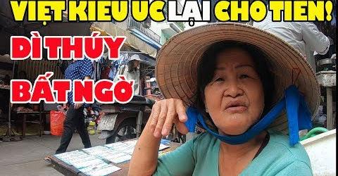 Việt Kiều gởi chị Thảo bán bánh bò Chợ Nhật tảo giúp dì Thúy bán vé số nuôi con bại não 2 tr