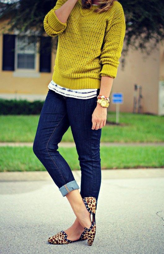 TJ Maxx Fall Lime Sweater 3 Ways @c c Corso Como