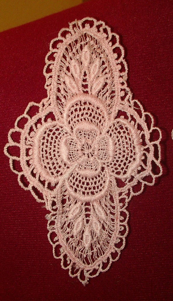 vintage machine made lace medallion