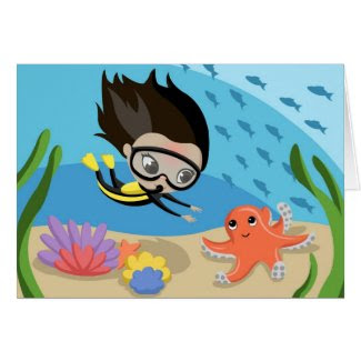 Mandy and Bubbles the Octopus Cards