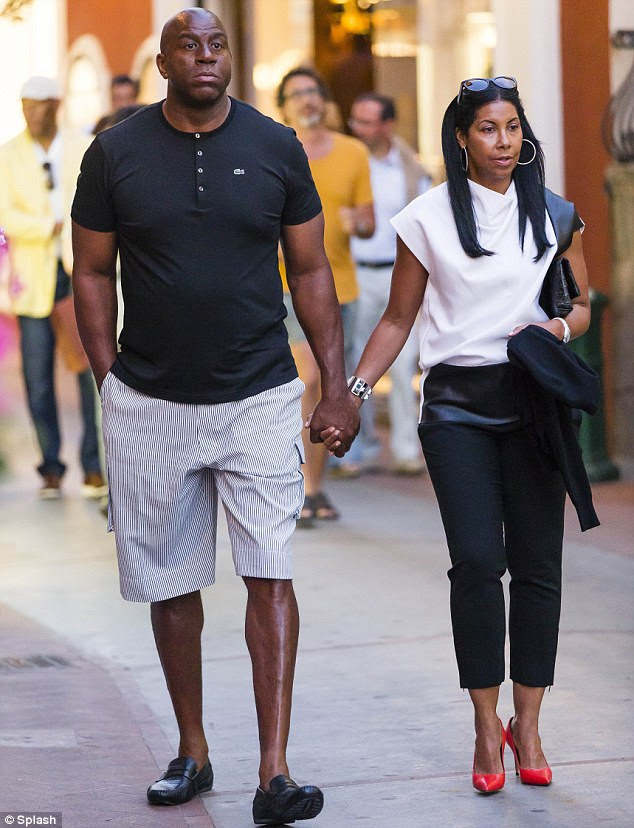Vacation buddies! Samuel L. Jackson and basketballer Magic ...