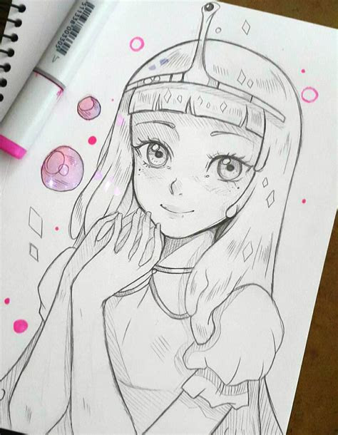 princess bubblegum  larienne drawing pinterest