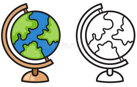 colorful  black  white earth globe  coloring book