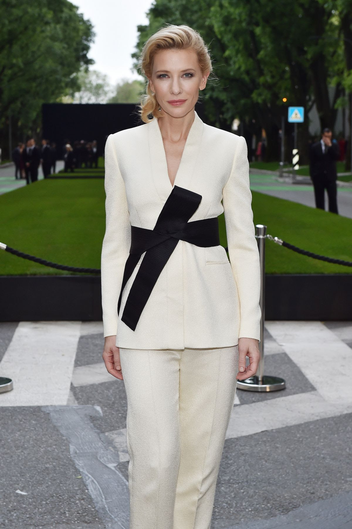 CATE BLANCHETT at Giorgio Armani 40th Anniversary Boutique Cocktail Reception in Milan