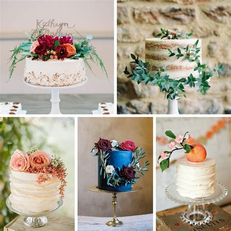 20 Single Tier Wedding Cakes with Wow   Chic Vintage