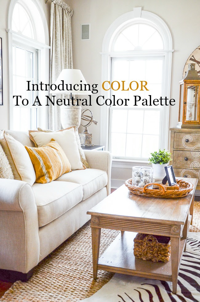 Introducing Color To A Neutral Palette Stonegable