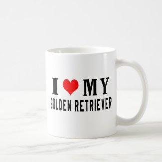 I Love My Golden Retriever Coffee Mug