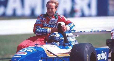 GP da Alemanha de 1995: o escocês David Coulthard e o brasileiro Rubens Barrichello