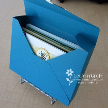 """Card Box tutorial - holds 10 standard sized cards and envelopes - 11"""" square sheet makes one."""