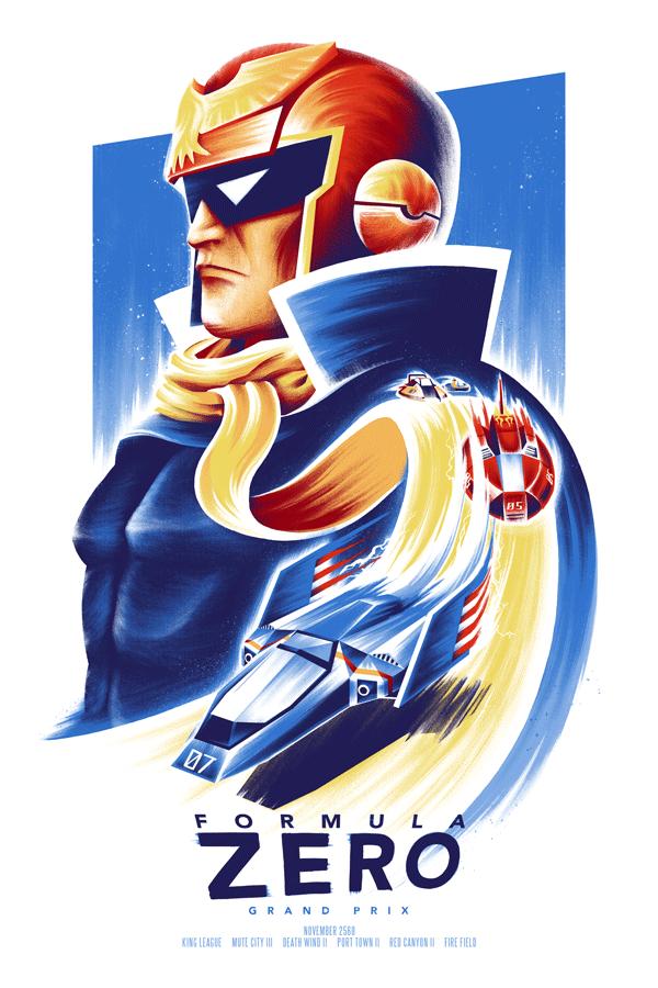 F-Zero: Grand Prix Poster by Ian Wilding