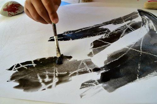 Halloween Art Projects Crayon Resist Spider Web Fun Littles