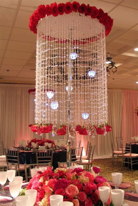 Crystal & rose chandelier   Wedding Inspiration   Wedding