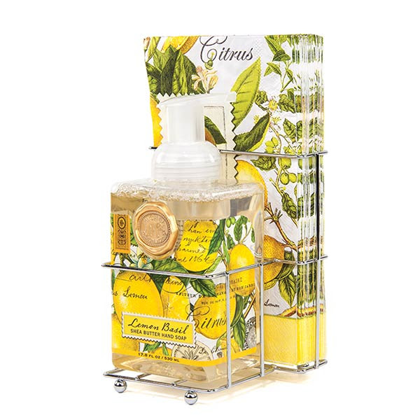 Lemon Basil Foaming Soap Napkins Set