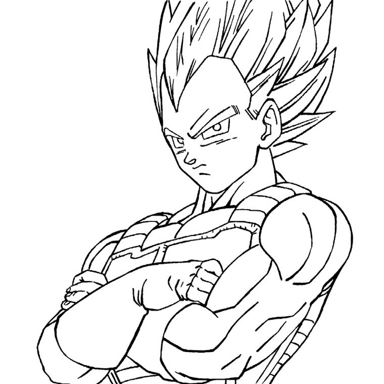 Dessin De Dragon Ball Z Vegeta Az Coloriage
