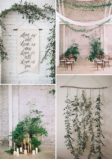 The New Rustic: Herb & Greenery Wedding Decoration Ideas