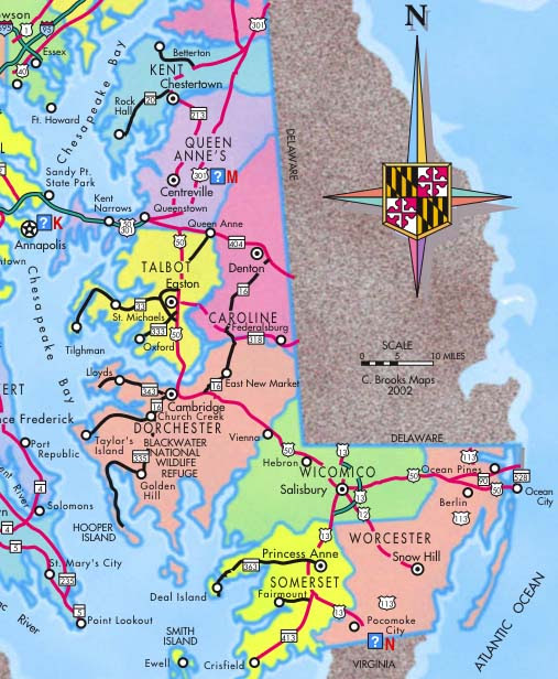 map of maryland eastern shore