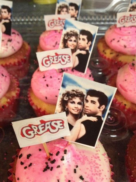 Grease cupcakes   Cake decorating   Pinterest   Grease party