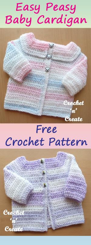Baby patterns crochet easy free cardigan pattern downloads down kim