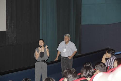 Monster Jiminez talking after Kano screening