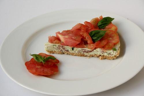 Fetta di Cheese-Cake ai pomodori