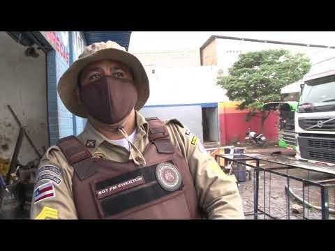 CAMINHONEIRO EXECUTADO COM NOVE TIROS EM POSTO DE GASOLINA