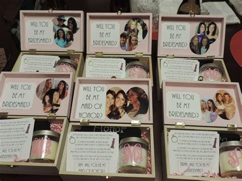 Cute way to pop the question to your bridesmaids: fill a