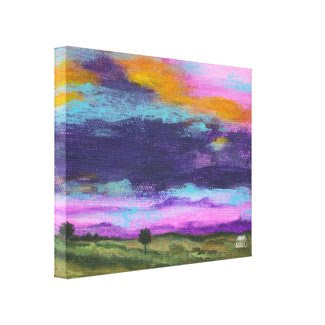 Last Thoughts Decor Canvas Print From Original Art wrappedcanvas