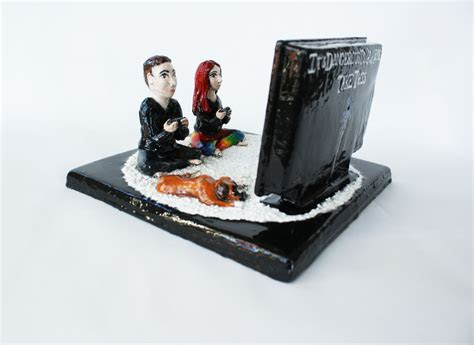 Hand Made Cake Topper For Video Game Lovers by Sara E