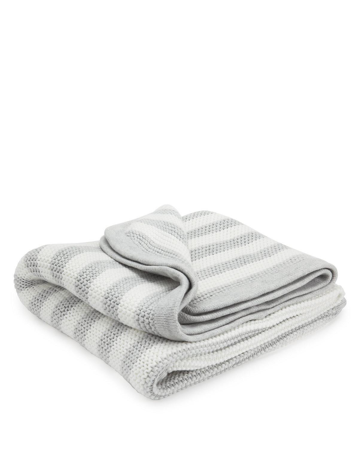 Pure Cotton Chunky Striped Shawl