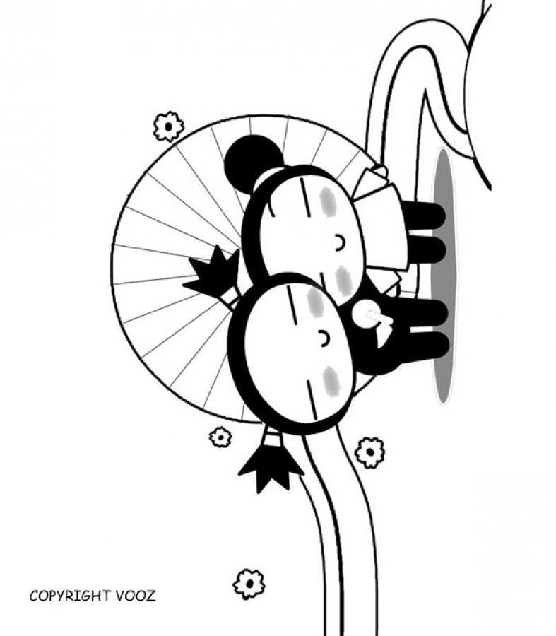 Dibujos Para Colorear Pucca Y Garu Enamorados Eshellokidscom