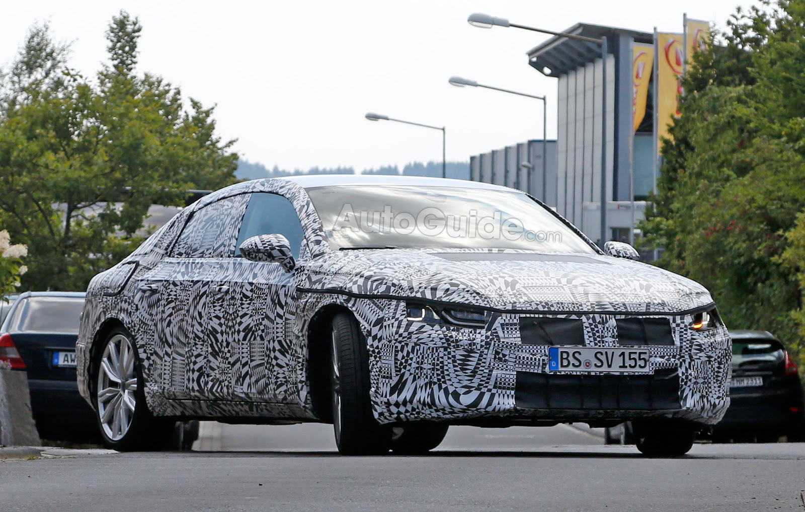 2018 volkswagen cc spied testing with aggressive styling