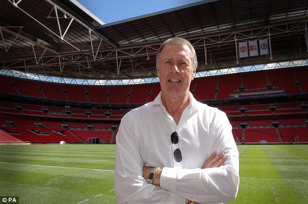 Legend: Sir Geoff Hurst is one of the World Cup Winners to help out with proceedings at the draw
