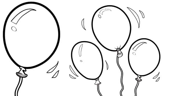 Happy Birthday Balloons Coloring Pages | Best Place to Color