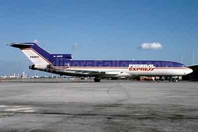 FedEx Express Boeing 727-233 (F) N221FE (msn  20932) MIA (Bruce Drum). Image: 102910.