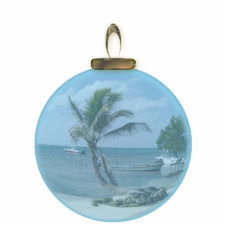 Paradise Beach Ornament photosculpture