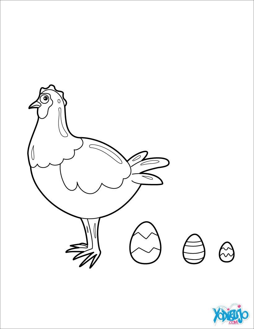 Dibujos Para Colorear Huevos De Gallina Eshellokidscom